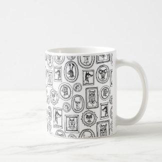 Animal Portraits - Black & White / Andrea Lauren Coffee Mug