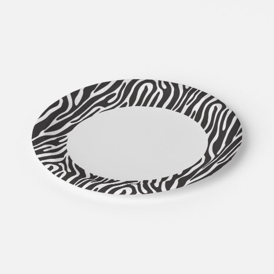 Animal Print 7 Inch Paper Plate