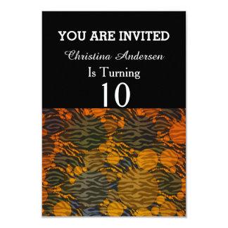"Animal Print Abstract 3.5"" X 5"" Invitation Card"