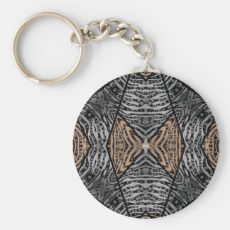 Animal Print Abstract Basic Round Button Keychain