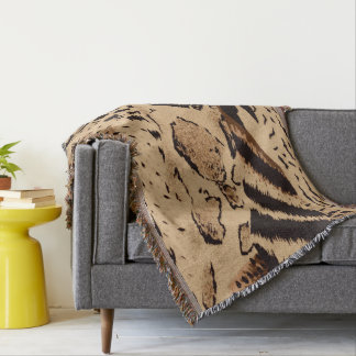Animal Print Abstract Pattern Throw Blanket