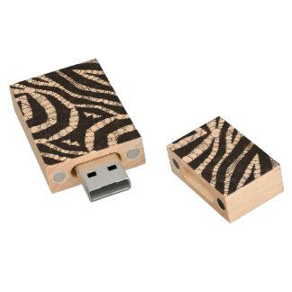 Animal Print Abstract Wood USB 2.0 Flash Drive