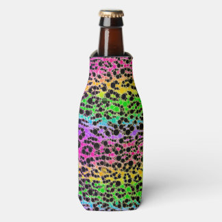 Animal Print Abstract Zipped Bottle Cooler