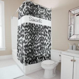 Animal print back white pattern