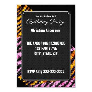 Animal Print Birthday Invitation