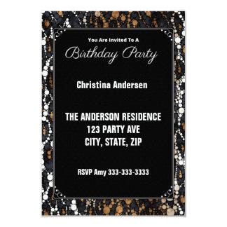 Animal Print Birthday Party Invitations