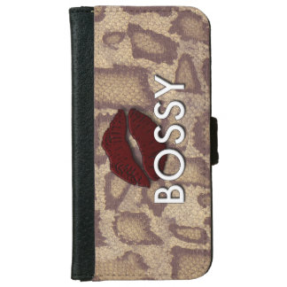 Animal print Bossy Iphone6 Wallet Case
