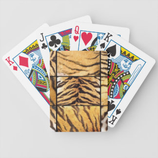 Animal Print Collage Bicycle Playing Cards