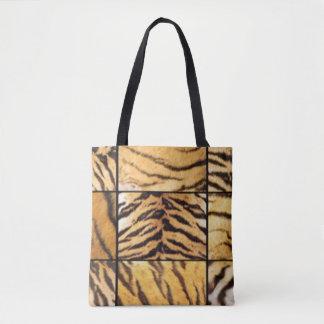 Animal Print Collage Tote Bag