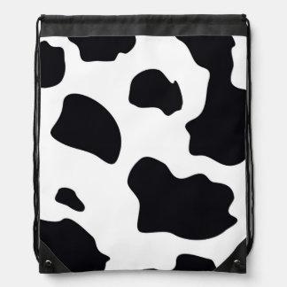 Animal Print Cow Cinch Bag