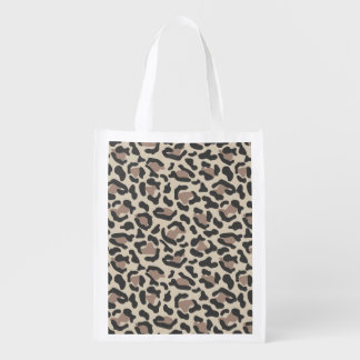 Animal print design reusable grocery bag