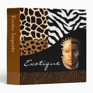Animal Print Exotic Collage Designer Kwanzaa 3 Ring Binders