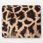 Animal Print Fur Skin Giraffe Brown Mouse Pads