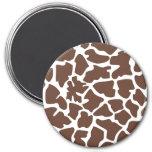 Animal Print Fur Skin Giraffe Brown, White Fridge Magnets