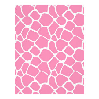 Animal Print Giraffe Print Scrapbook Paper Pink Customized Letterhead