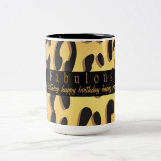 Animal Print Happy 50th Birthday Mug