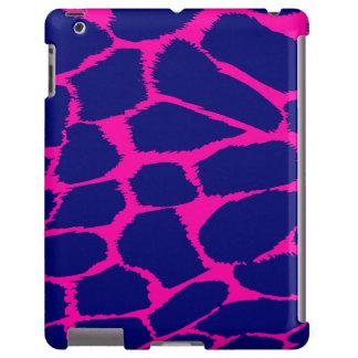 Animal print hot pink & blue tough ipad case