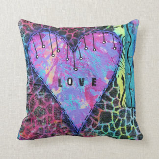 Animal Print Love Heart Pillow