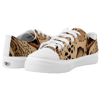 Animal Print Low Top Canvas Shoes