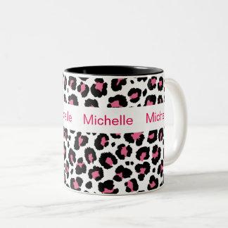 Animal Print Monogram Coffee Mugs
