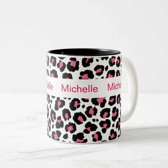 Animal Print Monogram Coffee Mugs