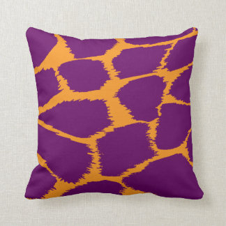 Animal print orange purple complementary pillow