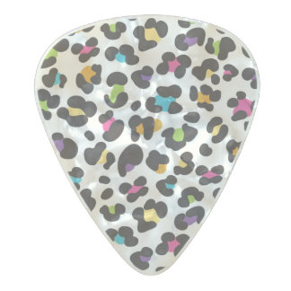 Animal print pattern pearl celluloid guitar pick