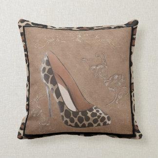 animal print shoe pillow, Copyright Karen j Willia Throw Pillow