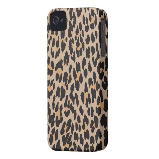 Animal Print, Spotted Leopard - Brown Black iPhone 4 Cover