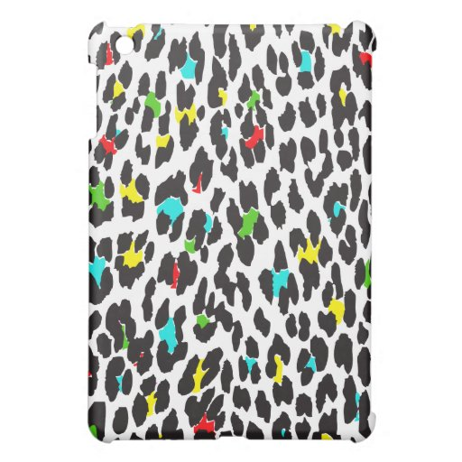 Animal Print, Spotted Leopard - Yellow Blue Green iPad Mini Cases