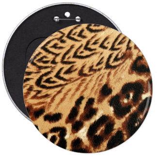 Animal print texture 6 inch round button