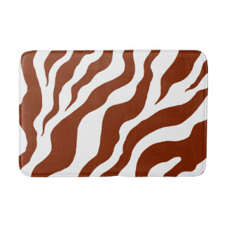 Animal Print Zebra Bath Mat Bathroom Rug