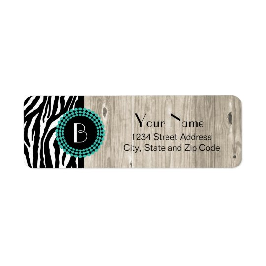 Animal Print Zebra Pattern and Monogram