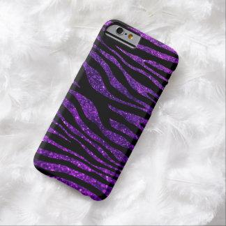 Animal Print, Zebra Stripes, Glitter - Purple Barely There iPhone 6 Case