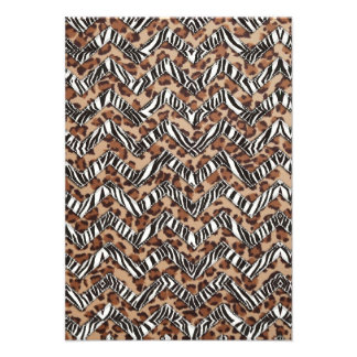 Animal Print Zig Zags Personalized Announcement
