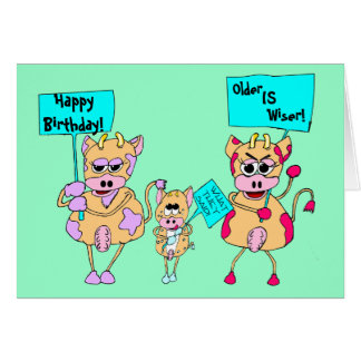 Animal protesters; Happy Birthday!, Card