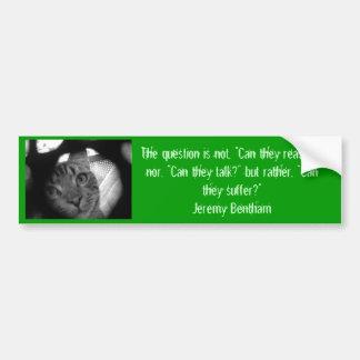 Animal quotes - Jeremy Bentham 2 bumper sticker