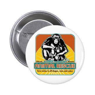 Animal Rescue Chimpanzee Pins