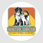 Animal Rescue Dog and Cat Round Sticker