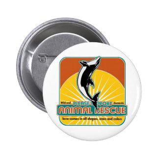 Animal Rescue Dolphin Pinback Button