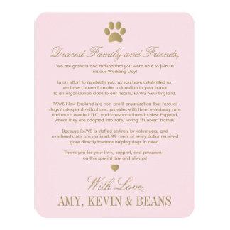 Animal Rescue Donation Card | Paw Print Design