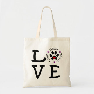 Animal Rescue Love Budget Tote