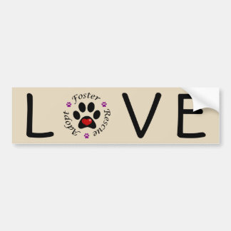 Animal Rescue Love Bumper Sticker