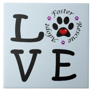 Animal Rescue Love Ceramic Photo Tile