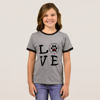 Animal Rescue Love Girl's Ringer T-Shirt