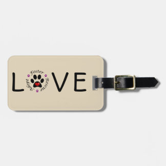 Animal Rescue Love Luggage Tag