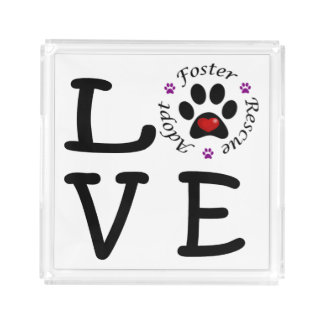 Animal Rescue Love Square Tray