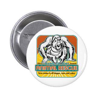 Animal Rescue Orangutan Pinback Buttons