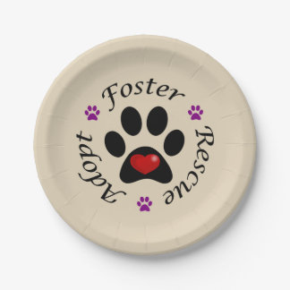 Animal Rescue Paper Plates