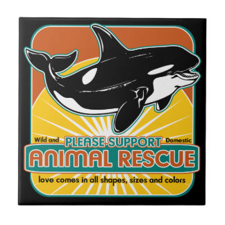 Animal Rescue Whale Tile